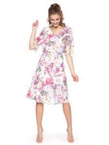 Sukienka na poprawiny w kwiaty