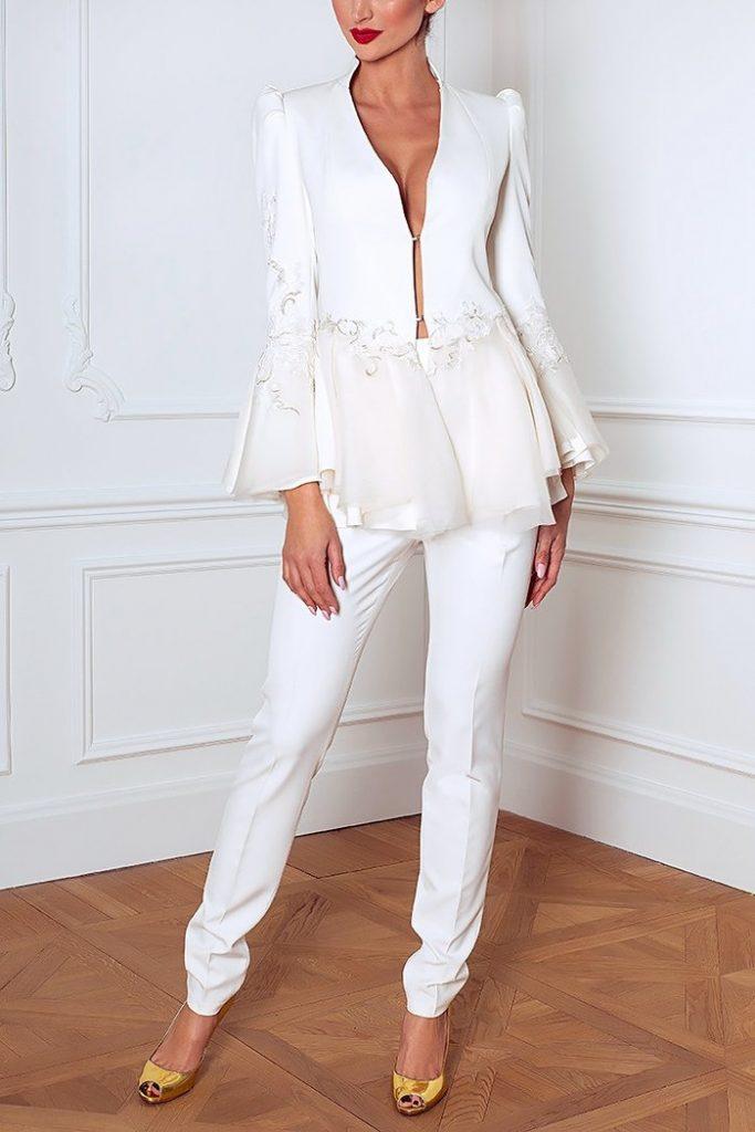 Eleganckie białe cygaretki