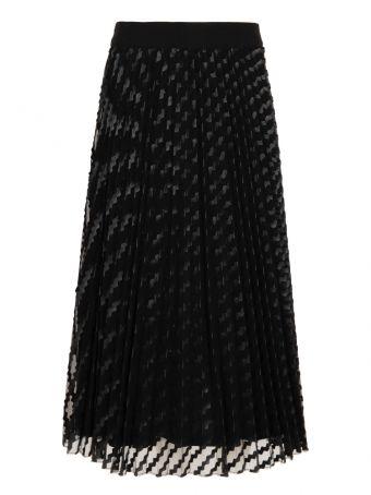 Czarna plisowana spódnica