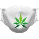 maseczki z nadrukiem marihuany